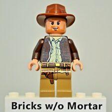 New Genuine LEGO Indiana Jones Minifig Indiana Jones 7627 7628 7683