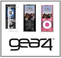 Gear4 ICEBOX PRO Crystal Metallic Hard Clear Case for iPod Nano 4th Gen Lanyard