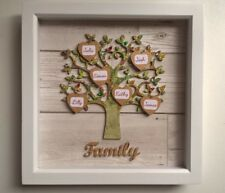 ❤️Family tree picture. Wall hanging, Personalised.with names on hearts, 3D ❤️