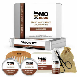 Beard Grooming Gift Set Kit XL | Beard Oil, Balm, Wax, Soap, Scissors, Comb