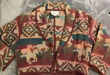 Horse County Cheyenne L Jacket Blanket Aztec Southwest Western Ranch Cowgirl