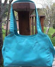 Matt Murphy Purse Handbag Bag RARE Classic Hand Made in USA Leather Aqua MAC