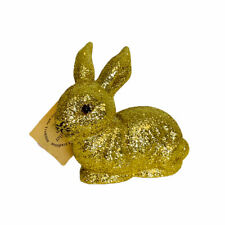 Ino Schaller Bayern Germany Easter Gold Glitter Small Bunny Rabbit Figurine