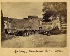 Gateway, Ahmedabad Fort, India. 1882 . Albumen Print