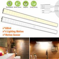 2/1PCS LED Motion Sensor Closet Lights Cordless Under Cabinet Lightening 60 LED
