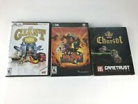 Lot 3 New & Sealed PC Computer Games: Chariot, Has Been Heroes & The Giant Box