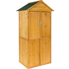 Armoire de jardin remise pour outils abri atelier bois toit pente coffre cabane