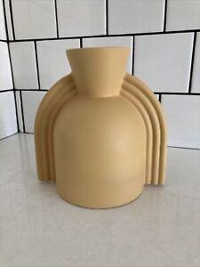 Modern Art Deco Boho Vase Beige Apricot Color Arch