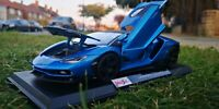 Maisto 1:18 Scale Lamborghini Centenario - Blue - Diecast Model Car SEE VIDEO
