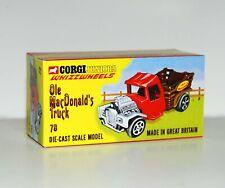 CUSTOM MADE DISPLAY BOX FOR CORGI JUNIORS OLE MACDONALDS TRUCK -FREE U.K. POST