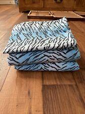 Blue Zebra Full Sized Sheets