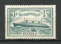 FRANCE N° 300 PAQUEBOT NORMANDIE Bleu Clair Neuf**. Cote 200€