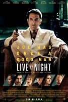 LIVE BY NIGHT MOVIE POSTER Mint Original DS 27x40 Final Style 2017 BEN AFFLECK