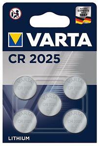 1x5er Blister Varta CR2025 Batterien Knopfzellen Knopfzelle Mindesthaltbark 2027