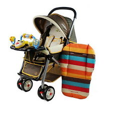 Car Seat Pad Waterproof Padding Pram Rainbow Baby Kids Stroller Cushion FT