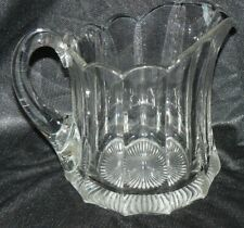 Large Vintage Heisey Heavy Glass Milk Pitcher Priscilla Colonial Panel
