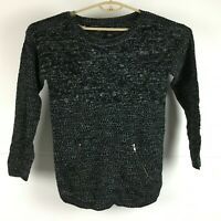 Hooked Up by IOT Womens Black Pullover Sweater L *NWT*
