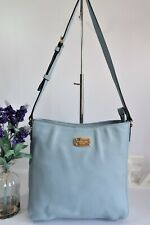 "MICHAEL KORS ""Jet Set"" Crossbody Messenger Bag Large Pale Blue Saffiano Leather"