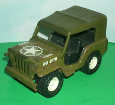 1/30 Scale US Army WW2 Jeep Pressed Steel Toy Model - Vintage 1980's Buddy-L