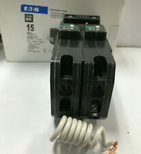 EATON Type BR 15 Amp 1 in. Double Pole Plug-On Combination Arc Fault Circuit Bre