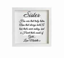 Sister Quote Decal Vinyl Decal Sticker Ikea Ribba Box Frame Personalised Name
