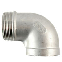 "2"" Female x Male street Elbow Threaded Pipe Fitting Stainless Steel SS 304 NPT"