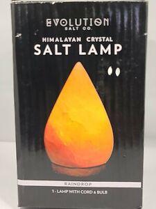 EVOLUTION SALT Raindrop Crystal Himalayan Salt Lamp & Original Packaging