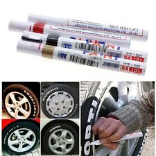 White Ink Vehicle Car Auto Motorcycle Tyre Tire Wheel Paint Marker Mark Pen 5pcs