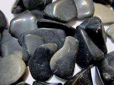 Black Cloudy Agate Tumbled Stone 30-40mm QTY1 Healing Crystal Dreamwork Eyesight