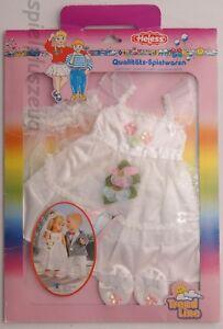 Heless Puppenkleidung Hochzeitskleid Schleier Brautkleid für Puppen 35-45cm NEU