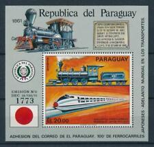 [105570] Paraguay 1972 Railway train eisenbahn locomotive Souvenir Sheet MNH