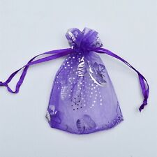 50-500 Butterfly Organza Gift Bags Jewellery Candy Pouch Wedding Favor Wholesale