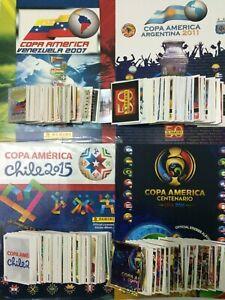 ORIGINAL PANINI Album COPA AMERICA 2007 2011 2015 2016 Complete Stickers