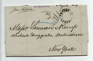 VENEZUELA: Shipmail cover Caracas to New York 1879. contents.