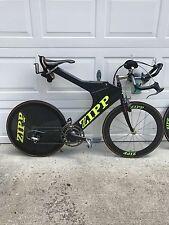 Zipp 2001 Bicycle and extra Zipp rear wheel - Great Triathlon Bike
