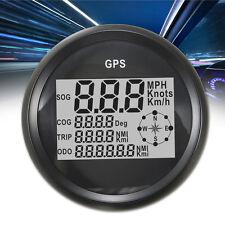 Black GPS Speedometer Waterproof Digital Gauge For Auto Car Truck Marine 9-32V