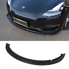 Front Bumper Lip Fit 2017-2021 Tesla Model 3 Accessories Glossy Carbon Pattern