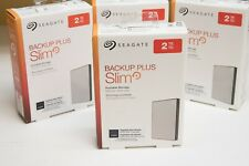 2TB Seagate Backup Plus Slim External Hard Drive Portable HDD STHN2000401 PC/MAC