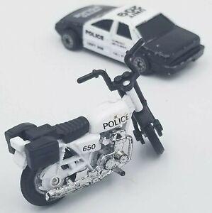 Vtg MAISTO 1994 Turbo Police 650 Motorcycle Metro Police Cruiser Display DieCast