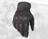 Carbon Fiber Motorcycle Motorbike Hard Knuckle Gloves Men's Armoured MX Cruiser
