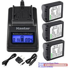 Kastar Battery LCD Fast Charger for CGA-S006 S006 & Panasonic Lumix DMC-FZ35