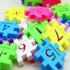 DIY Blocks Square Educational Toy Assembly Children Building Block Toys Math TO