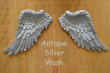 VINTAGE Antico Stile Shabby Chic in Argento Ali D'Angelo Wall Art Decoration