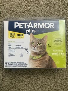 PetArmor Plus Flea & Tick Prevention Treatment for Cats Over 1.5 lbs  6 Pack