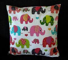 Kissenhülle, Kissenbezug 40x40 cm, Elefanten, Kinderkissen, Handarbeit, neu