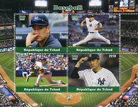 Chad 2018 MNH Baseball 4v M/S Sports Stamps
