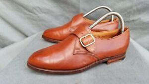 Vintage Crockett&Jones Norton Monk Strap Dress Brogue Shoes Sz-7UK 8US