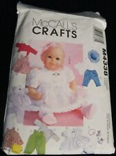 "McCall'S Crafts Sew & Make Sewing Pattern 11""-16"" Baby Doll Clothes & Hats 2003"