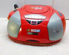 Nascar Portable Radio Boom Box  Power Source NC150RD Red