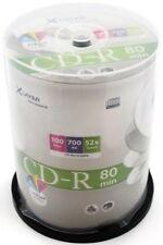 600 Xlayer Printable inkjet White Blank CD CD-R discs 52x 700MB 80 mins cakebox